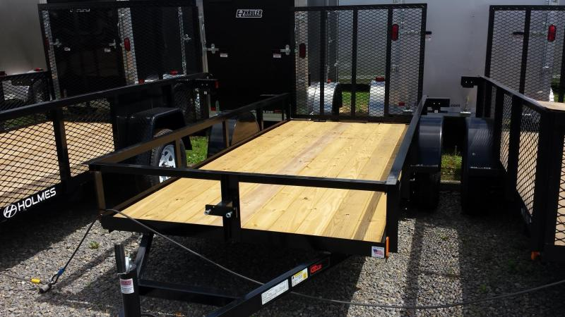 2014 Holmes residential series 5x12 utility trailer - open rails - 3.5k - LED