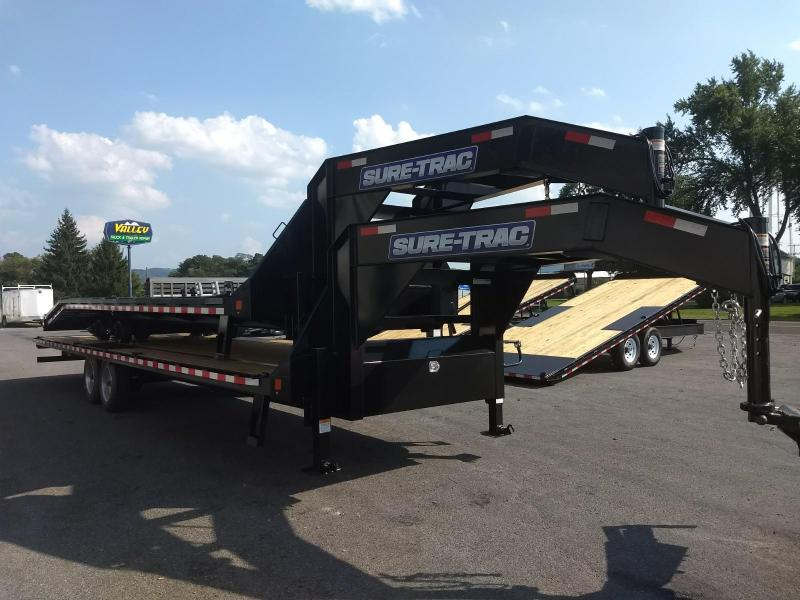 2019 Sure-Trac 8.5x30 17.6K HD Goose-Neck deckover Equipment Trailer