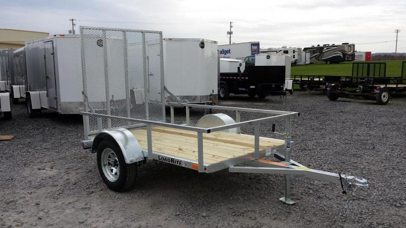 2017 Load Rite 5x8 Galvanized Open Side Utility Trailer
