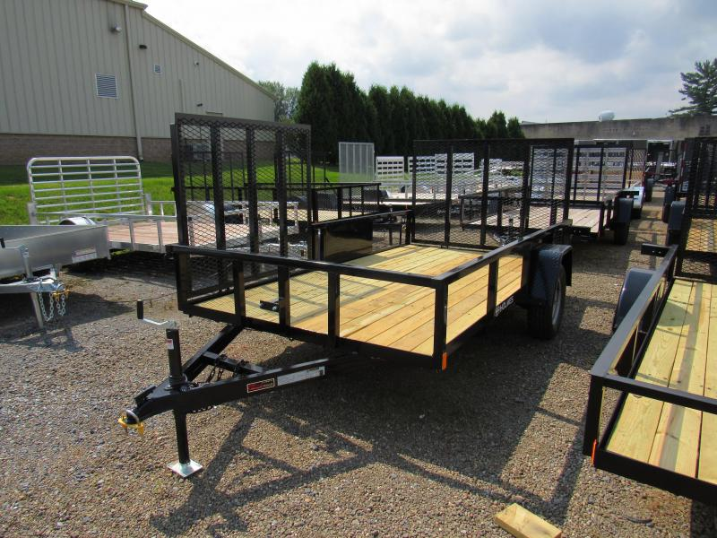 2020 Holmes 6-4x12 Commercial Side Gate 3.5k Utility Trailer