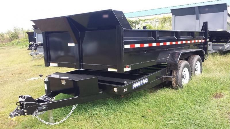 2017 Sure-Trac 7x16 low profile dump trailer