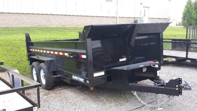 2018 Sure-Trac 7x12 low profile dump trailer -12k -ramps -scissor lift