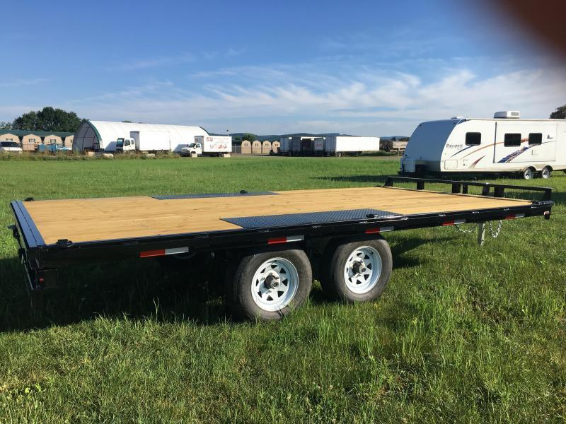 2019 Sure-Trac 8.5x16 10K Deckover Flatbed Trailer