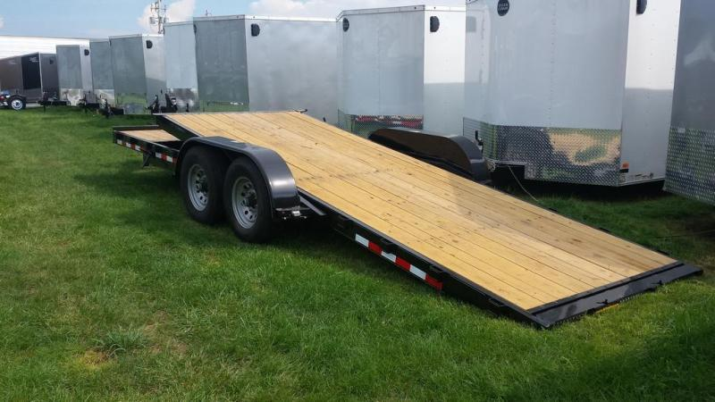 2017 H and H Trailer 7x22 Gravity Tilt Deck Equipment Trailer