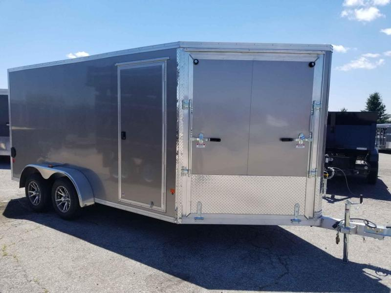 2018 Mission EZES 7x14+4 Enclosed Snowmobile Trailer