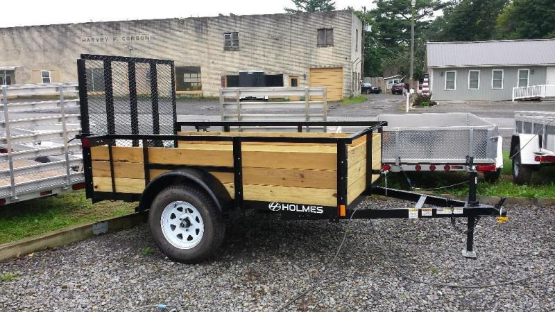 2015 Holmes residential 5x8 utility trailer -LED -wood sides -3.5k