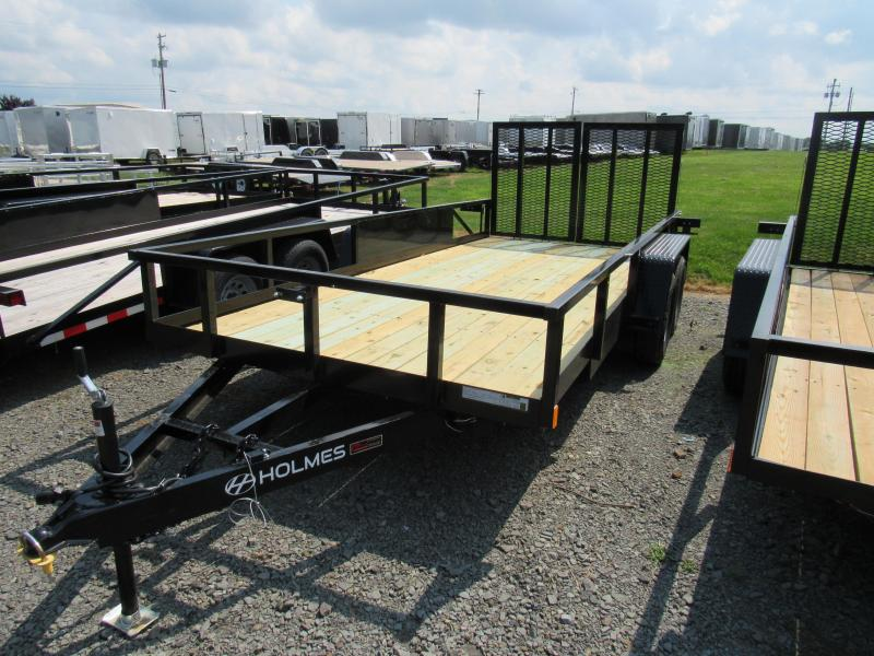 2020 Holmes 6-10x16 Commercial Open Side Rail 7k Utility Trailer