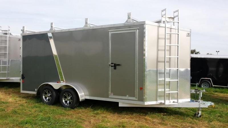 2016 Mission 7x16 all aluminum Enclosed Contractor Trailer