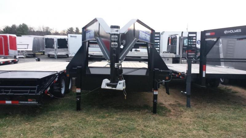 2018 Sure-Trac 8.5x25 HD flatbed deckover Equipment Trailer