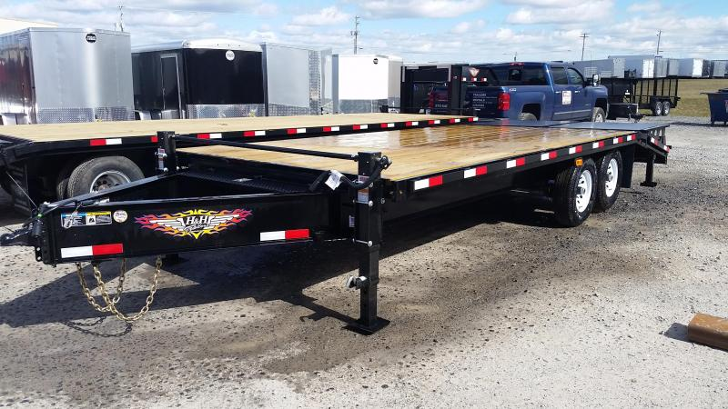 2017 H and H Trailer Hi-Deck 16' + 5' Super Deluxe Bobcat Ramps