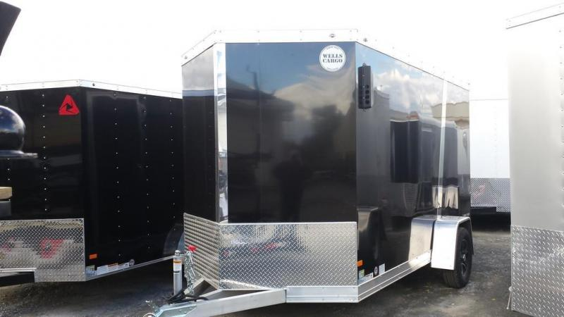2015 Wells Cargo Silver Sport 6x12 all aluminum Enclosed Cargo Trailer