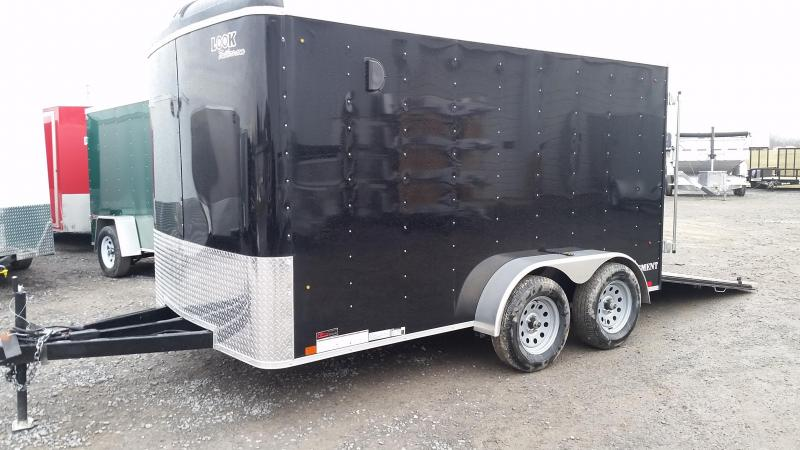 2017 Look Trailers Element Round Top 7x12 7K Enclosed Cargo Trailer