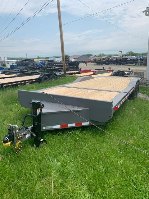 2019 Midsota 7x18+4 17.6K tilt deck wide body Equipment Trailer