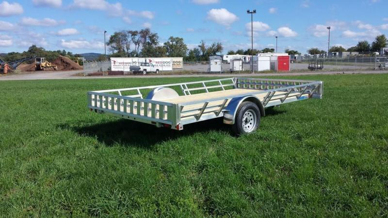 2017 Mission 83x14 Aluminum 3 Place ATV Trailer