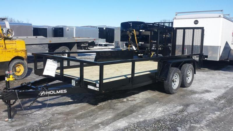 2019 Holmes 6-10x16 Commercial Open Side Rail 7k Utility Trailer