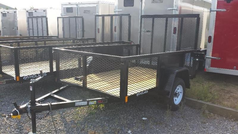 2016 Holmes 5x8 Commercial Mesh Side Utility Trailer