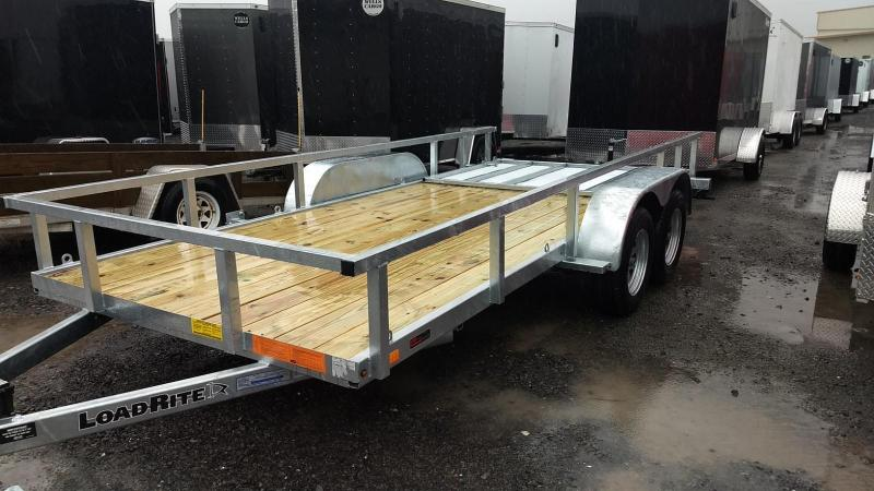 2019 Load Rite 6-5x16 Galvanized Open Side Rail Utility Trailer