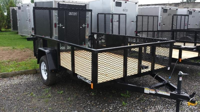 2018 Holmes 6-4x10 Commercial Mesh Side Utility Trailer