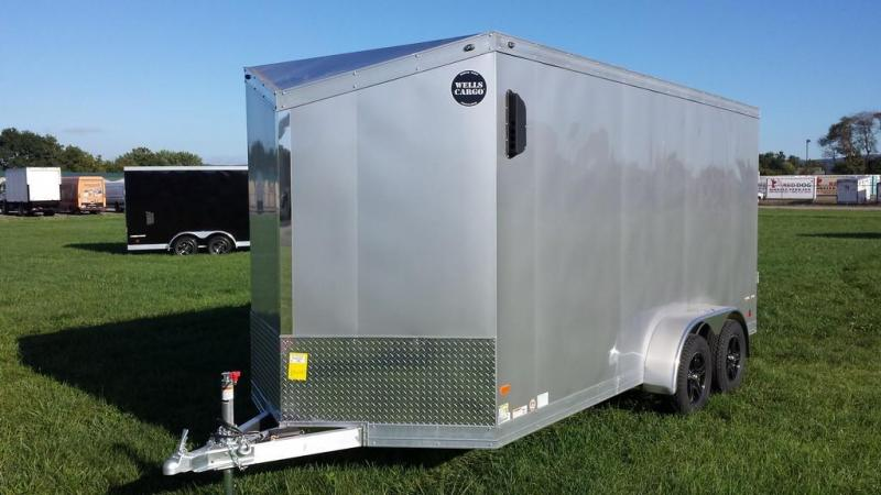 2017 Wells Cargo 7x16 Silver Sport Enclosed Cargo Trailer