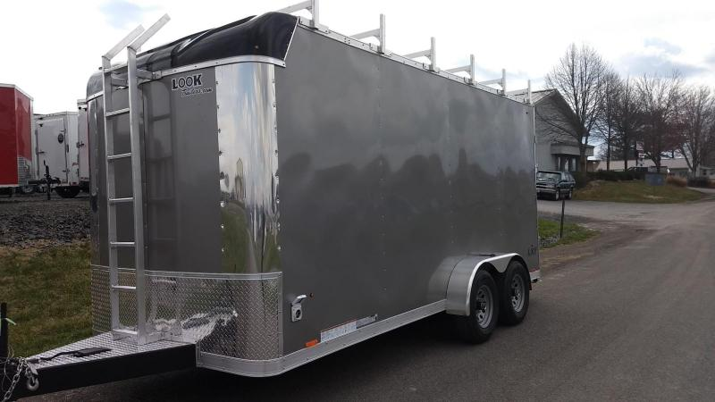2019 Look Trailers 7x16 10K Contractor Enclosed Cargo Trailer