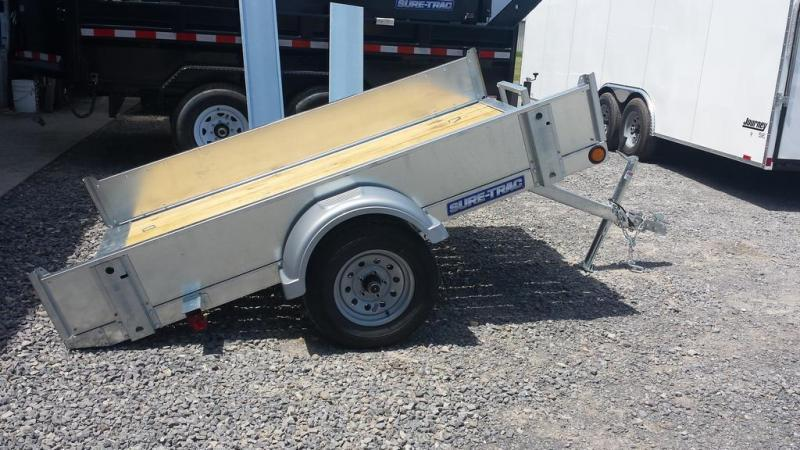 2017 Sure-Trac 5x8 Galvanized Tilt Bed Utility Trailer