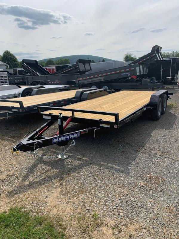 2019 Sure-Trac 7x18 7k Tilt Car / Racing Trailer