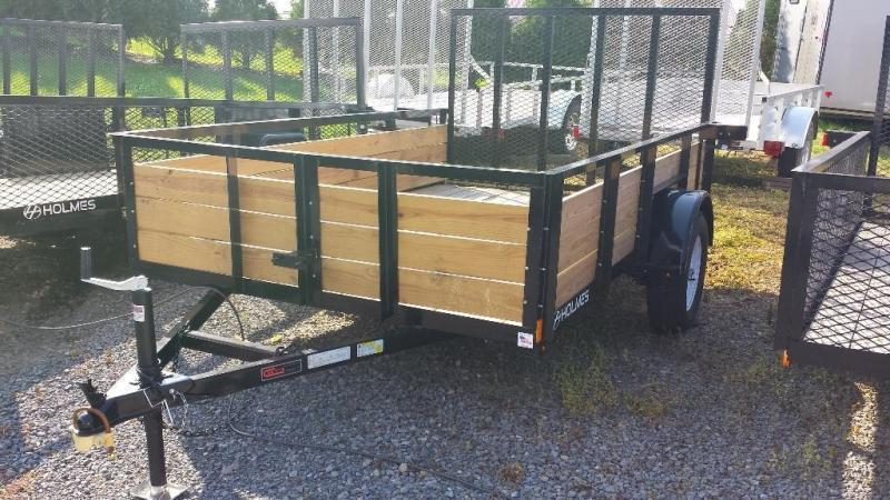 2019 Holmes 6-4x10 Wood Side Utility Trailer