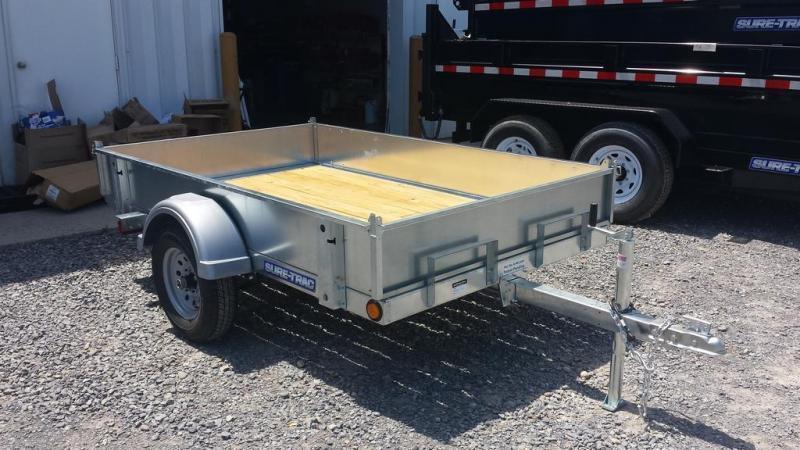 2016 Sure-Trac 5x8 Galvanized Tilt Bed Utility Trailer