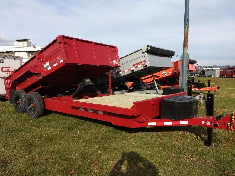 2019 Midsota 18 Dump/Flat Bed Combo Equipment Trailer