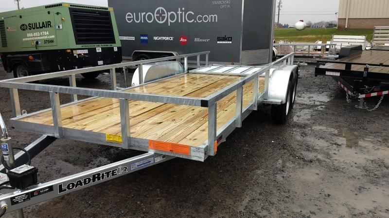 2019 Load Rite 6-5x18 Galvanized Open Side Rail Utility Trailer