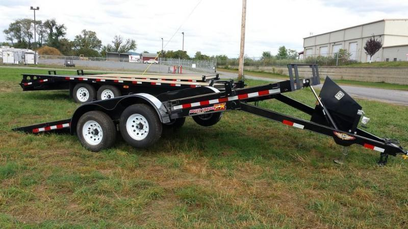 2016 H and H Trailer 7x18 Powered Tilt Deck Car / Racing Trailer
