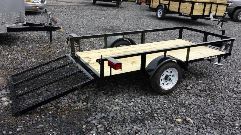 2018 Holmes 4x8 Open Side Rail Utility Trailer
