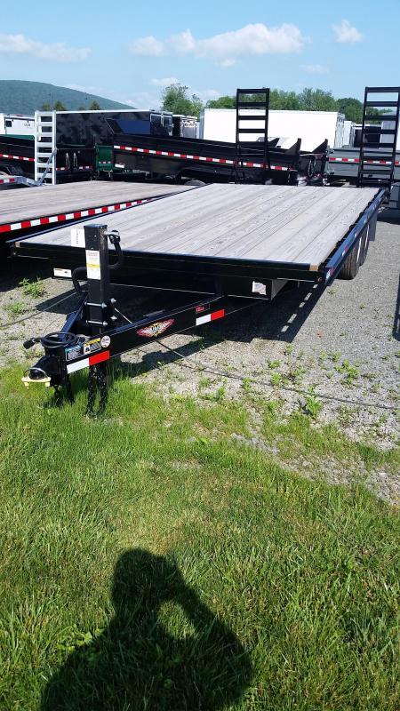 2017 H and H Trailer Hi-Deck 16 ft 4 ft Deckover Equipment Trailer