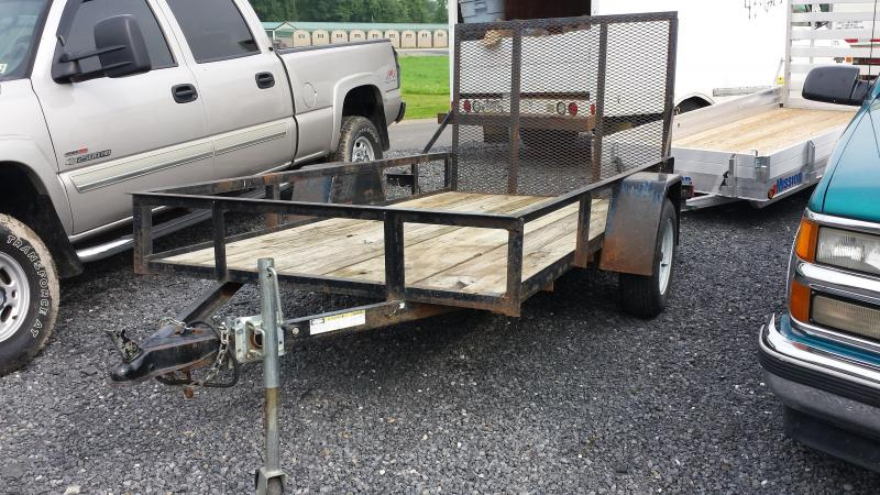 2003 Star 5x10 rail 3k Utility Trailer -wood deck -LED tail lights