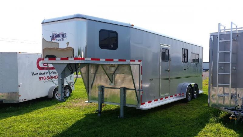2015 Closeout! Save $500 - Frontier Fast Track 2 plus 1 GN Horse Trailer