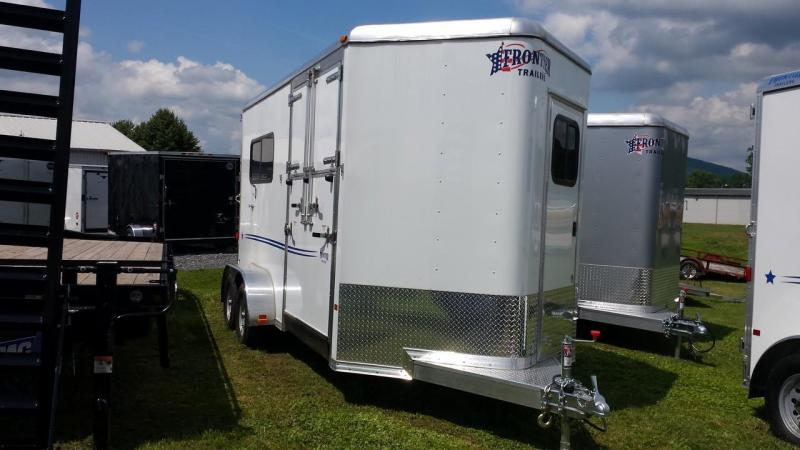 2015 Closeout! Save $500 - Frontier Aluminum Fast Track Series 2-horse with side ramp Horse Trailer