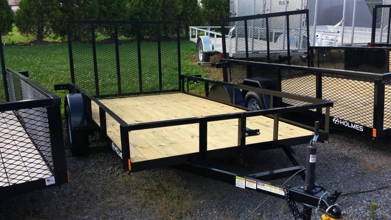 2018 Holmes 6-4x12 Open Side Rail Utility Trailer