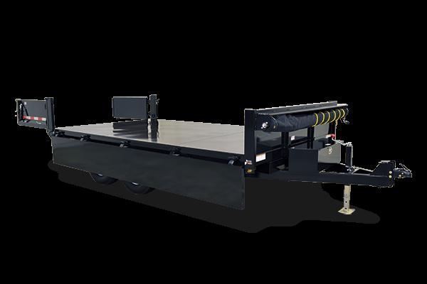 2015 Sure-Trac 96x14 HD 14k deckover dump trailer w/ drop down sides -ramps - LED