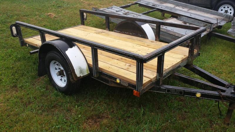 1995 Jorama 4x8 2k tilt Utility Trailer -new wheels -new deck