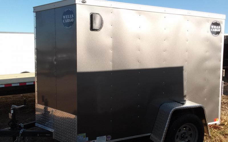 2018 Wells Cargo 300 Series 5x8 Enclosed Cargo Trailer