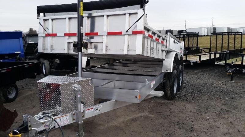 2019 Mission MODP 7x14 Aluminum 12K Dump Trailer