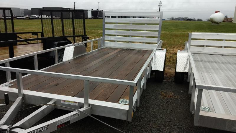 2019 Stealth Trailers 6-5x14 Alum Open Deck Rail Utility Trailer
