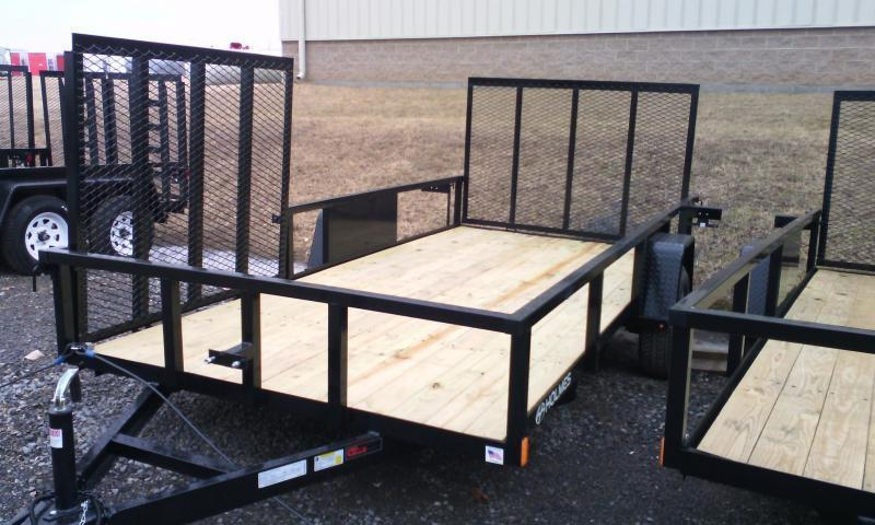 2018 Holmes commercial 6-4x12 utility trailer -side ramp -3.5k -LED