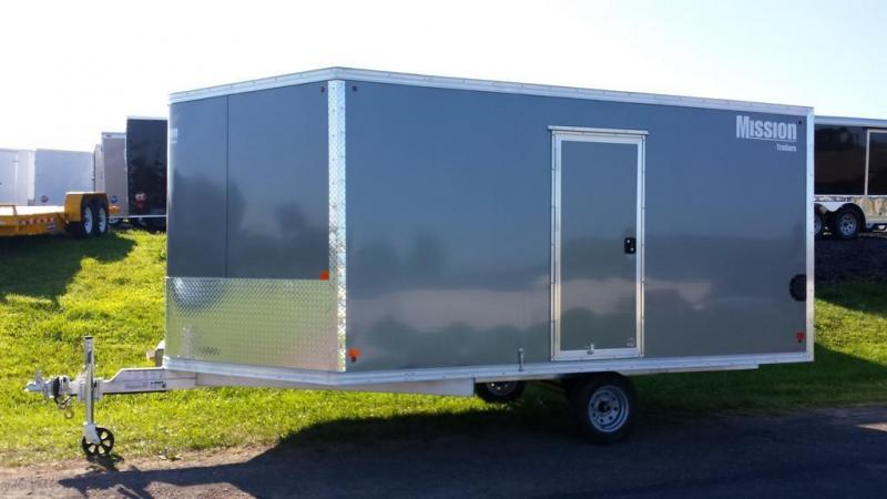 2016 Mission MES 101x12 DL Snowmobile Trailer