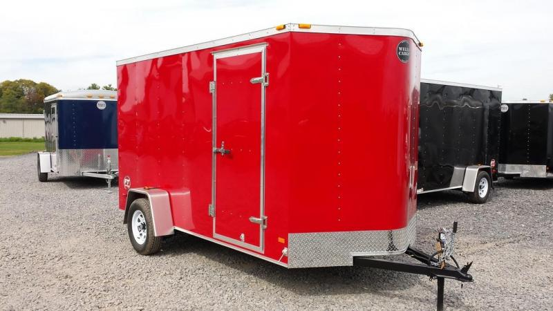 2015 Wells Cargo Fast Trac 6x12 enclosed trailer -red -ramp - +6 in interior