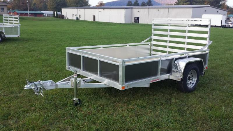 2017 Worthington Trailers 6-5x10 Solid Charcoal Grey Side Utility Trailer