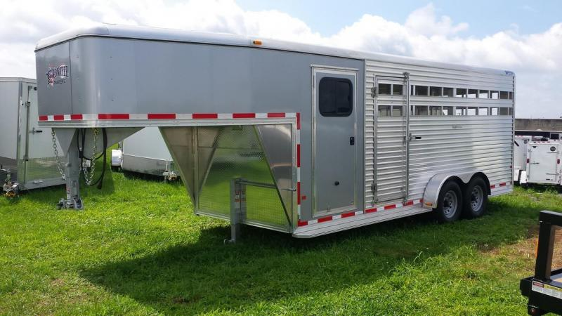 2015 Closeout! Save $500 - Frontier Aluminum Trailers 20ft Gooseneck Livestock Combo Series Trailer