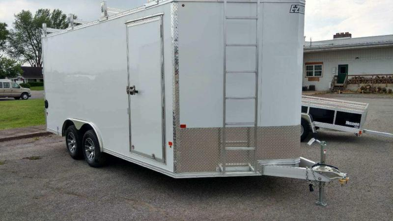 2018 Mission 8x16 all aluminum Enclosed Contractor Trailer