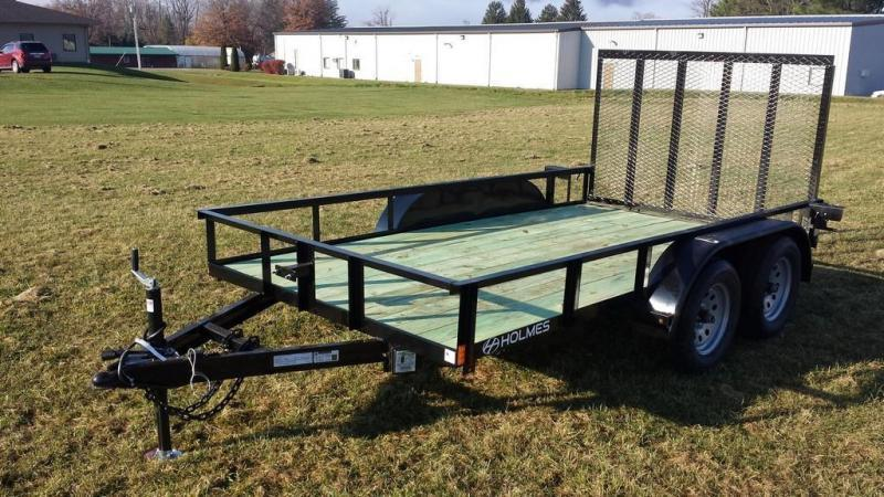 2019 Holmes 6-4x12 Open Side Rail 7k Utility Trailer