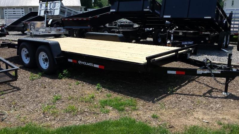 2015 Holmes 6-10x18 wood deck car hauler 10k -LED lights